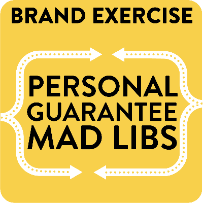Personal Guarantee Mad Libs